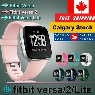 $ CDN7.95 • Buy For Fitbit Versa 2/ Lite/Versa/SE Replacement Soft Silicone Wrist Band Strap S-L