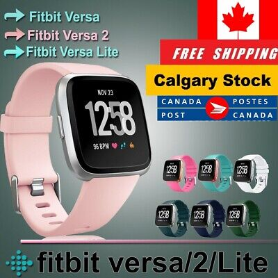 $ CDN7.75 • Buy For Fitbit Versa 2/ Lite/Versa/SE Replacement Soft Silicone Wrist Band Strap S-L