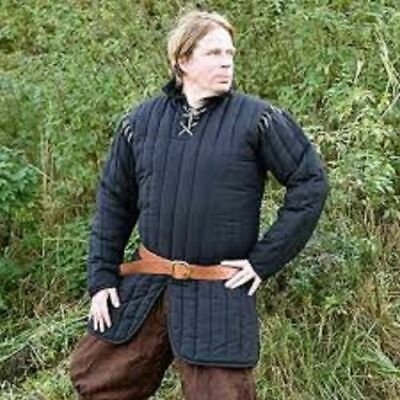 New Gambeson Medieval Blue Color Clothing Padded Full Sleeves Armor Reenactment • 47.68£