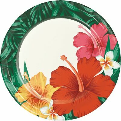 Tropical Flowers 7 Inch Paper Plates Luau Party Supplies Decorations • 1.71£