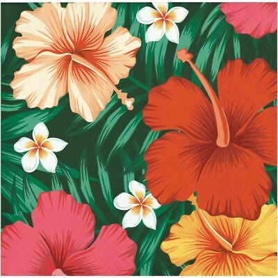 Tropical Flowers Beverage Napkins 16 Pack Luau Party Supplies Decorations • 1.71£