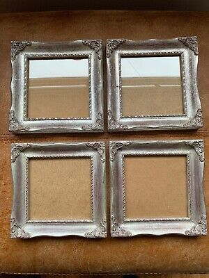 Beautiful 4 Silver Gilt Square Photo Picture Wall Frame Rococo Baroque Style • 49.49£