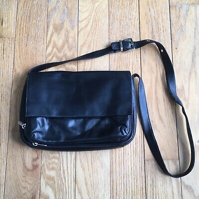 $ CDN31.99 • Buy Danier Black Genuine Leather Envelope Purse Shoulder Bag Crossbody