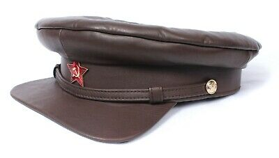 £31.85 • Buy Soviet USSR Military Officer's Leather Hat WWII CCCP