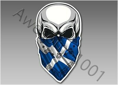 Skull Bandana 825 Car Van Laptop Motorbike Sticker Vinyl Decal Scotland Flag • 2.99£
