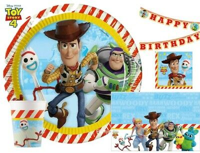 Disney Toy Story 4 Party Buzz Woody Plates Cups Napkins Tablecover Decorations • 2.97£