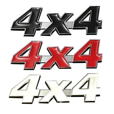 $1.21 • Buy 4x4 Chrome Metal 3D Logo Car Displacement Badge Emblem Decal Sticker Accessories