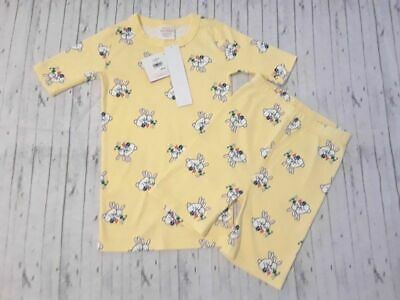 $20.99 • Buy NWT Hanna Andersson Girls Size 140 Yellow Easter  Bunny Rabbit Pajamas Size 10