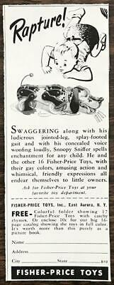 1948 Fisher-Price Toys PRINT AD Snoopy Sniffer Dog • 6.05£