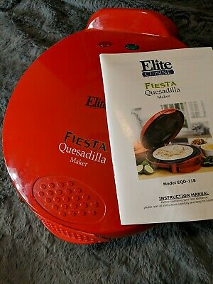 $12 • Buy Elite Fiesta Quesadilla Maker - Red - Model EQD-118