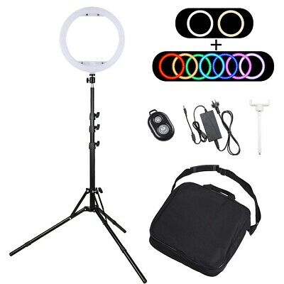 AU62.90 • Buy 13  Dimmable LED Ring Light RGB Stand Photo Makeup Studio Video Shoot Lighting