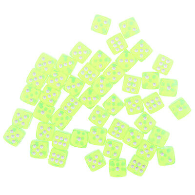 AU14.05 • Buy 100 Translucent Dice D6 Six Sided Dice 15MM For Learning Math Party Game