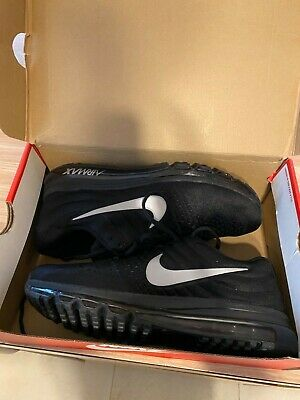 $99 • Buy NIKE AIR MAX 2017 Men's Running Trainers Shoes Size 9 BLACK SILVER NIKE LOGO