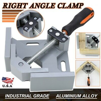 $17.18 • Buy 90 Degree Corner Clip Right Angle Clamp Vice Grip Welding Woodworking Aluminium