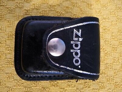 $5.21 • Buy Zippo Lighter - Official Leather Pouch Case With Belt Clip - Made In USA.