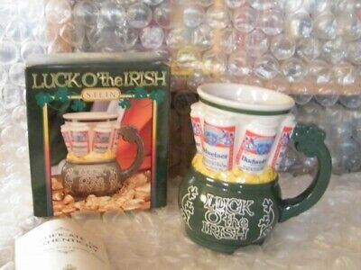 $ CDN46.67 • Buy Budweiser St. Patrick's Day Stein  Luck O'the Irish W/COA New