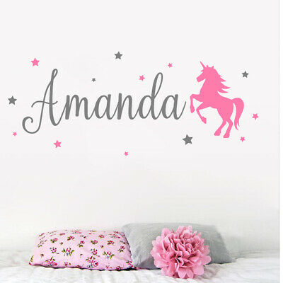 Personalised Name Wall Art Sticker Letter Baby Girls Bedroom Nursery Decal Cot • 8.49£