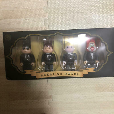 $99.99 • Buy R@BBRICK 100% SEKAI NO OWARI Set Lot Of 4 Rare Medicom Bearbrick From Japan