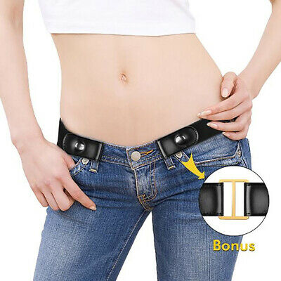 $6.59 • Buy No Bulge Hassle Buckle-Free Women's Elastic Belts Invisible Belt For Jeans Dress