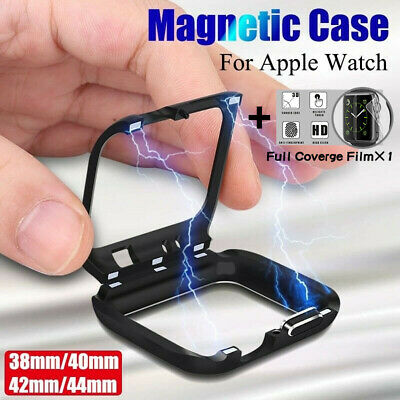 $ CDN6.71 • Buy Fr Apple Watch Series 5 4 3 2 Magnetic Metal Protective Case Cover 38 40 42 44mm