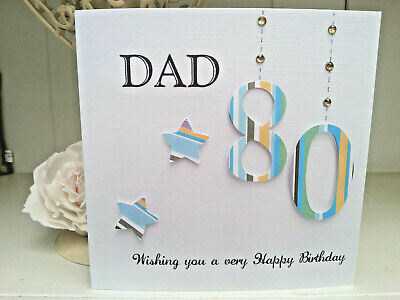 £3.60 • Buy PERSONALISED HANDMADE BIRTHDAY CARD DAD GRANDAD UNCLE 70th 80th 65th All Ages