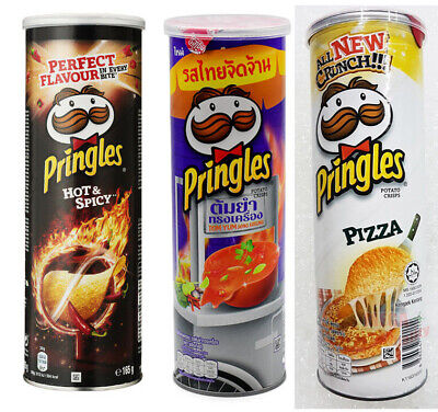 Pringles Hot And Spicy Flavored Potato Chips BURSTING WITH FLAVOUR Snack 110g. • 7.72£