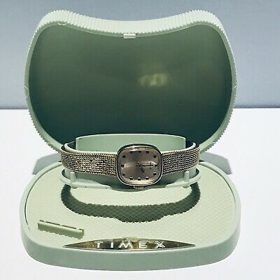 $ CDN32 • Buy Vintage Timex Watch Gold Tone And Box Timex Parts Only 1970s