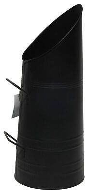 Black Coal Hod Scuttle Bucket Heavy Duty Metal Fireside Fireplace Logs Ash Tidy • 19.99£