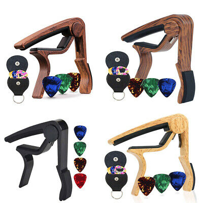 $ CDN13.88 • Buy Guitar Capo Pick Holder With 6 Guitar Picks Set Musical Instrument Accessories