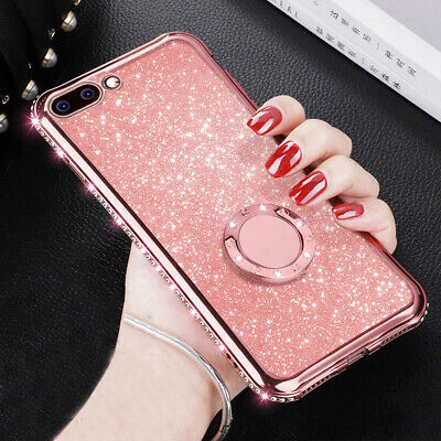 AU6.95 • Buy Glitter Case For OPPO VIVO Soft Silicone TPU Diamond Sexy Girl Protector Cove Nd