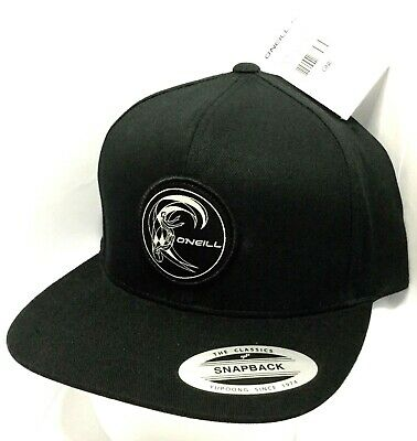 $22.49 • Buy New W/ Tags Rare O'NEILL SURFING COMPANY Black Adjustable Snapback Surf Hat Cap