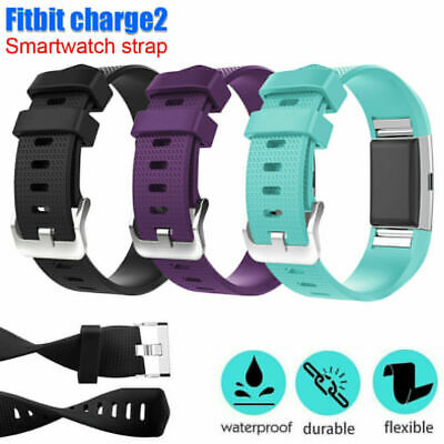 AU5.29 • Buy For Fitbit Charge 2 Silicone Wristband Watch Strap Bracelet AUS Band Replacement