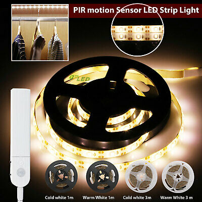 $9.97 • Buy Battery Powered LED Strip Lights PIR Motion Sensor Hallway Closet Stair Wardrobe