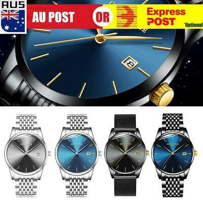 AU17.99 • Buy Fashion Men's Watches Stainless Steel Date Waterproof Sport Quartz Wrist Watch A