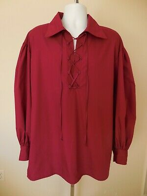 $46 • Buy New Adult Renaissance Medieval Victorian Colonial Pirate Poet Shirt Size Small