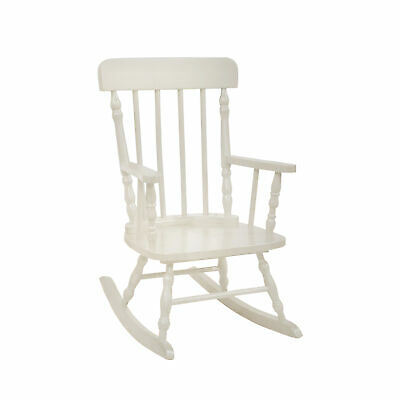 $88.44 • Buy Benzara Traditional Style Wooden Kids Rocking Chair With Spindle Back, White