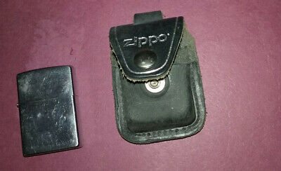 $17.99 • Buy Zippo Black Leather Lighter & Pouch Holder With Belt Snap Loop
