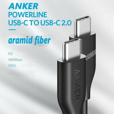 AU17.99 • Buy Anker 0.9M Double USB-C 2.0 Powerline Cable PD Quick Chager 480mbps 60W A8182