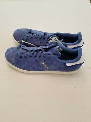 $ CDN52.16 • Buy ADIDAS Stan Smith Shoes Blue Suede White CQ2191 Mens US 10