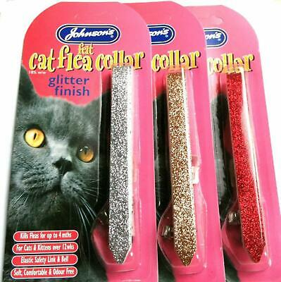*new* Johnsons Sparkling Glitter Cat Flea Collar 4 Month Protection  • 4.99£