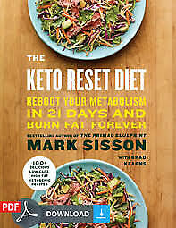 $2.99 • Buy The Keto Reset Diet 100+ Delicious Recipes Fast Shipping_1 Minute [P.DF]