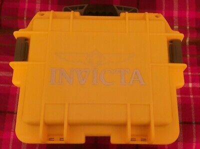 View Details Invicta Yellow 3 Slot Watch Box Protective Deployment Case • 40.00£