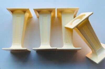 """£6.99 • Buy 4 X Ivory SQUARE PILLARS Columns Cake Support Decorate 3""""inch Long Sugarcraft"""