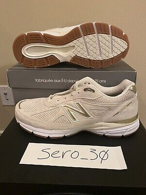 $100 • Buy Sz 11.5 New Balance 990v4 Made In USA Beige Gold Suede Men's M990AG4 *Brand New*