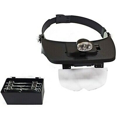£11.99 • Buy Toolzone Head Mounted Magnifier 2 Leds Magnifying Glasses Repairs Jewellery