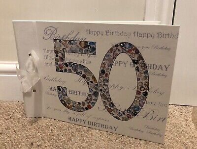 50th Birthday Scrapbook Photo Album Guest Book Visitors Party A4 Landscape 20 Pg • 7.99£