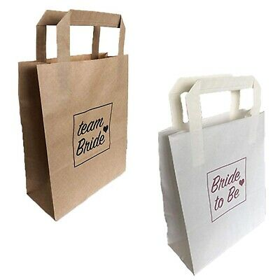 Hen Party Bags Paper Team Bride To Be Goody Favour Paper Bag Night Do Accessory • 0.99£