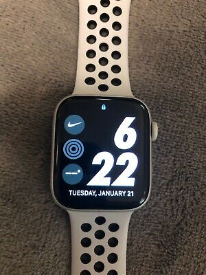 $ CDN524.27 • Buy Apple Watch Series 4 Nike+ 44 Mm Silver Aluminum Case With Pure...