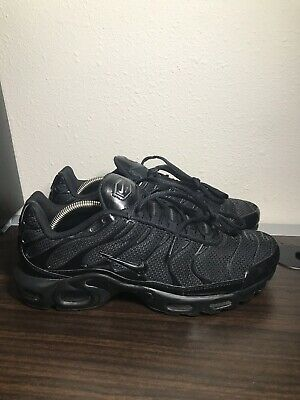 $99.99 • Buy Nike Air Max Plus TN Triple Black Running Shoes Men's Size 11