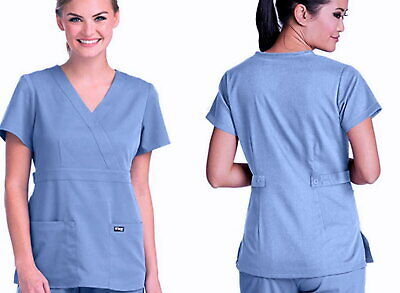 $16.99 • Buy Barco - Grey's Anatomy 50681 Women's Mock Wrap Scrub Top And Pants Set - Size S